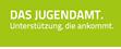 Grünes Logo des Jugendamtes
