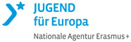 Logo Jugend für Europa mit Link zu deren website