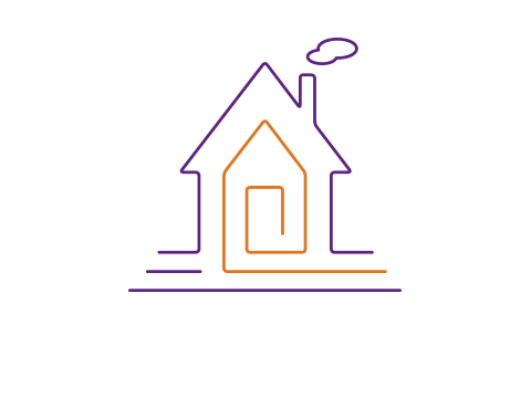 Strichzeichnung eines Hauses